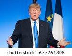 paris  france   july 13  2017   ...   Shutterstock . vector #677261308