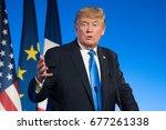 paris  france   july 13  2017   ...   Shutterstock . vector #677261338