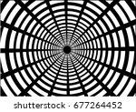 geometric white circle. ...   Shutterstock .eps vector #677264452