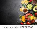 latinamerican mexican food... | Shutterstock . vector #677279065