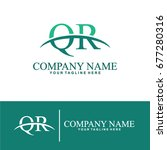 business of q and r initial... | Shutterstock .eps vector #677280316