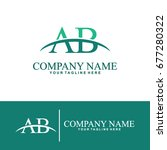 business of a and b initial... | Shutterstock .eps vector #677280322