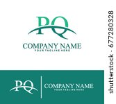business of p and q initial... | Shutterstock .eps vector #677280328
