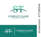 business of s and t initial... | Shutterstock .eps vector #677280346