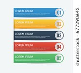 colored option banners... | Shutterstock .eps vector #677290642