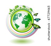 eco earth  green and blue with... | Shutterstock .eps vector #67729465