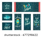 design web banners of different ... | Shutterstock . vector #677298622