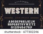 font. alphabet. script.... | Shutterstock .eps vector #677302246