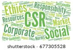 csr corporate social... | Shutterstock . vector #677305528