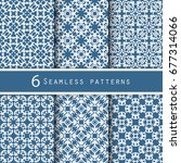 a pack of vintage pattern...   Shutterstock .eps vector #677314066