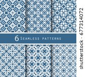 a pack of vintage pattern... | Shutterstock .eps vector #677314072