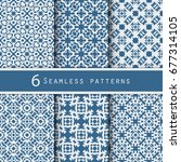 a pack of vintage pattern... | Shutterstock .eps vector #677314105