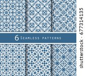 a pack of vintage pattern... | Shutterstock .eps vector #677314135
