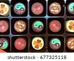 wording chocolates | Shutterstock . vector #677325118