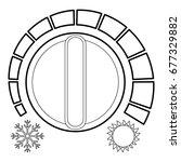 cold heat regulator icon....   Shutterstock .eps vector #677329882