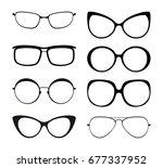 set of eyeglasses silhouette | Shutterstock .eps vector #677337952