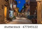 quebec city  quebec  canada  ... | Shutterstock . vector #677345122