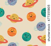 cute seamless pattern with...   Shutterstock .eps vector #677355805