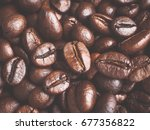 coffee beans for background | Shutterstock . vector #677356822