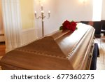 funeral and mourning concept  ... | Shutterstock . vector #677360275