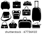 bags and suitcases icons set | Shutterstock .eps vector #67736410