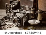old camera | Shutterstock . vector #677369446