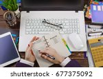 business accounting | Shutterstock . vector #677375092