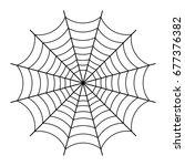 halloween spider web black... | Shutterstock . vector #677376382