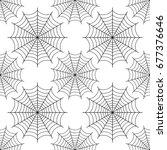 halloween spider we   black... | Shutterstock . vector #677376646