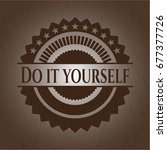 do it yourself wood signboards | Shutterstock .eps vector #677377726