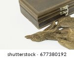 incense chip   oud  with... | Shutterstock . vector #677380192