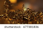 3d rendering of falling signs... | Shutterstock . vector #677381836
