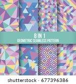 geometric seamless pattern... | Shutterstock .eps vector #677396386