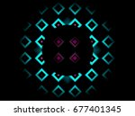 beautiful ball with blue... | Shutterstock . vector #677401345
