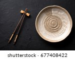ceramic dish  plate  and... | Shutterstock . vector #677408422