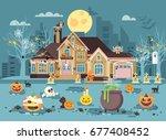 stock vector illustration... | Shutterstock .eps vector #677408452