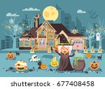 stock vector illustration... | Shutterstock .eps vector #677408458