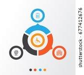 transportation icons set.... | Shutterstock .eps vector #677412676