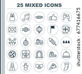 christmas icons set. collection ... | Shutterstock .eps vector #677416675