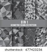 geometric seamless pattern... | Shutterstock .eps vector #677423236
