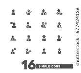Set Of 16 Job Icons Set...