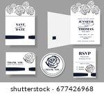 set of  laser cut wedding... | Shutterstock .eps vector #677426968