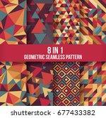 geometric seamless pattern... | Shutterstock .eps vector #677433382