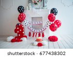 the decor of the first birthday | Shutterstock . vector #677438302