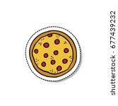 pizza doodle icon | Shutterstock .eps vector #677439232