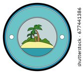 tropical palm icon | Shutterstock .eps vector #677441386