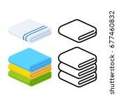 set of towel vector... | Shutterstock .eps vector #677460832