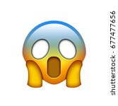 isolated emoji yellow spooky... | Shutterstock . vector #677477656