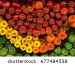 red  yellow  orange and green... | Shutterstock . vector #677484538