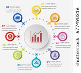 infographic template with loan... | Shutterstock .eps vector #677490316